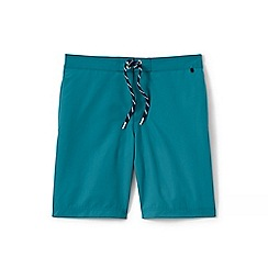 Lands' End - Blue regular side-stripe board shorts