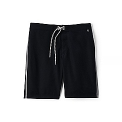 Lands' End - Black regular side-stripe board shorts