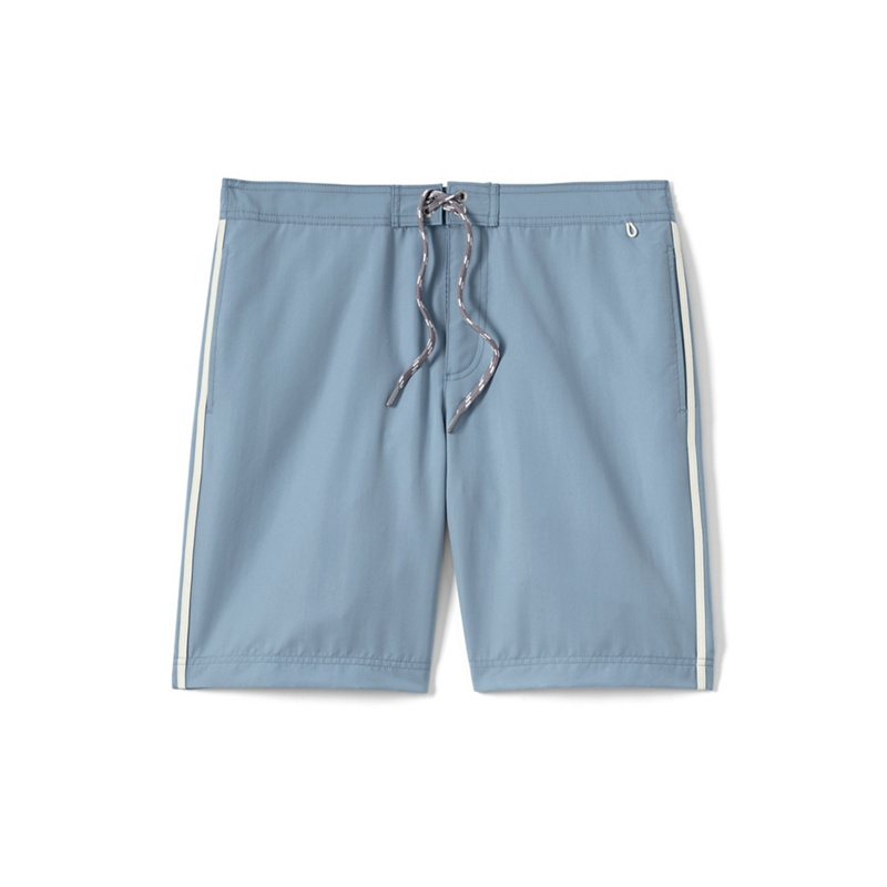 Lands' End - Blue Regular Side-stripe Board Shorts Picture