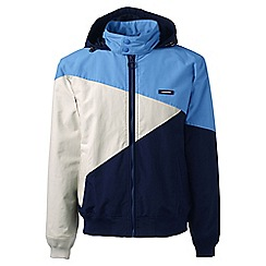 Lands' End - Blue regular colourblock spring squall jacket