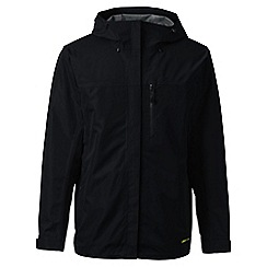 Lands' End - Black regular waterproof jacket
