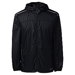 Lands' End - Black regular ultra-light packable jacket