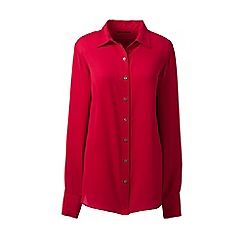 Lands' End - Red long sleeve crepe blouse
