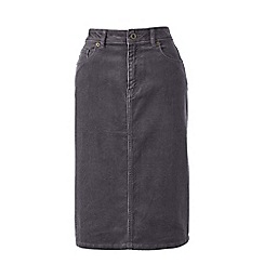 Lands' End - Grey 5-pocket cord skirt