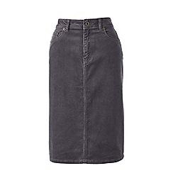 Lands' End - Grey 5-pocket petite cord skirt
