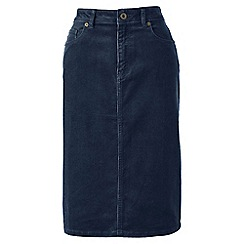Lands' End - Blue 5-pocket cord petite skirt