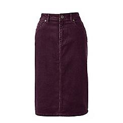 Lands' End - Red 5-pocket cord skirt