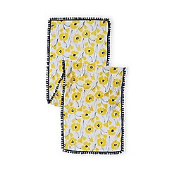 Lands' End - Girls' yellow lightweight scarf