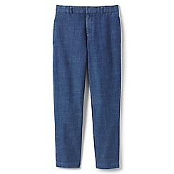 Lands' End - Boys' blue tailored chambray trousers