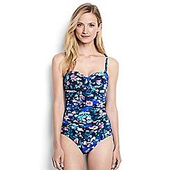 Lands' End - Multi regular bandeau floral print slender swimsuit