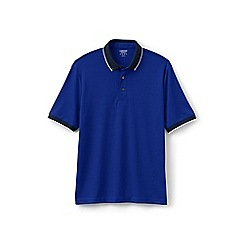 Lands' End - Blue buttondown collar supima polo