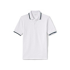 Lands' End - White tipped pique polo