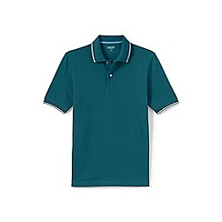 Lands' End - Green tipped pique polo