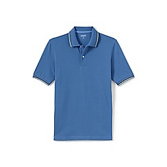 Lands' End - Blue tipped pique polo
