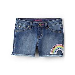 Lands' End - Girls' blue fringe shorts
