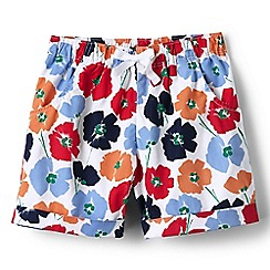 Lands' End - Girls' red pattern pull on shorts