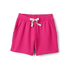 Lands' End - Girls' pink jersey midi shorts