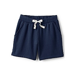 Lands' End - Girls' blue jersey midi shorts