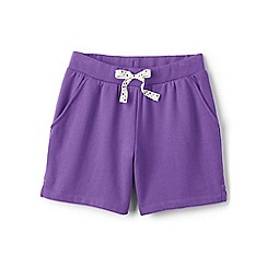 Lands' End - Girls' purple jersey midi shorts