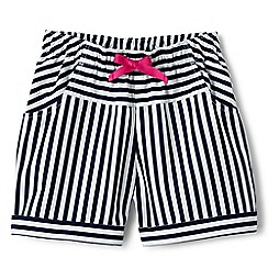 Lands' End - Girls' multicoloured stripe pull on shorts