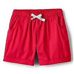 Lands' End - Girls' pink pull on shorts