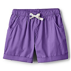 Lands' End - Girls' purple pull on shorts