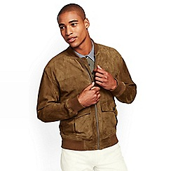 Lands' End - Brown regular suede bomber jacket