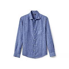 Lands' End - Blue long sleeve linen shirt
