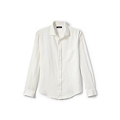 Lands' End - Cream long sleeve linen shirt