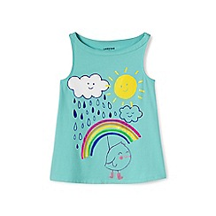 Lands' End - Girls' blue a-line graphic vest top