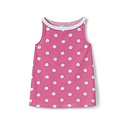 Lands' End - Girls' pink a-line patterned vest top