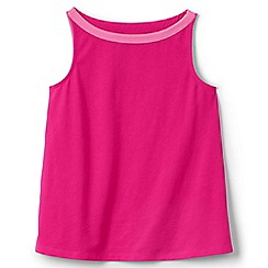 Lands' End - Girls' pink a-line vest top