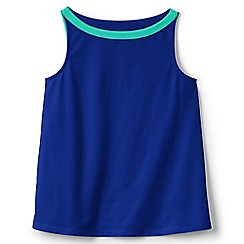 Lands' End - Girls' blue a-line vest top
