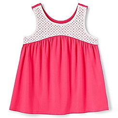 Lands' End - Girls' pink swing vest top