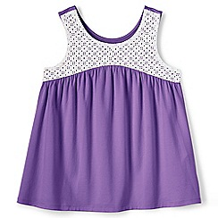 Lands' End - Girls' purple swing vest top