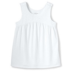 Lands' End - Girls' white swing vest top