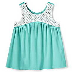 Lands' End - Girls' blue swing vest top