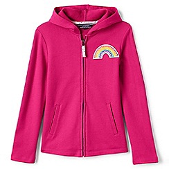 Lands' End - Girls' pink rainbow hoodie