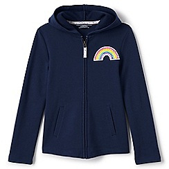 Lands' End - Girls' blue rainbow hoodie