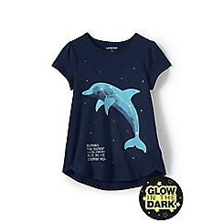 Lands' End - Girls' blue a-line graphic tee