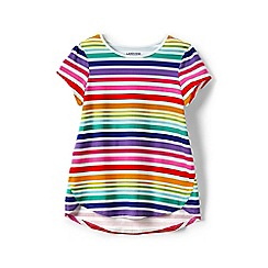 Lands' End - Girls' multicoloured a-line patterned tee