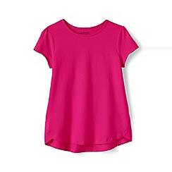 Lands' End - Girls' pink a-line short sleeve tee