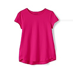 Lands' End - Girls' pink a-line short sleeve tee