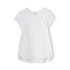 Lands' End - White a-line short sleeve tee