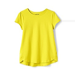 Lands' End - Girls' yellow a-line short sleeve tee