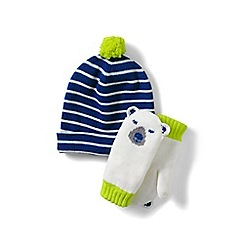 Lands' End - Blue hats and mitten sets