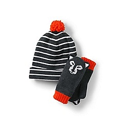 Lands' End - Grey hats and mitten sets