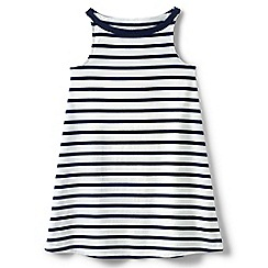 Lands' End - Girls' blue a-line sleeveless dress