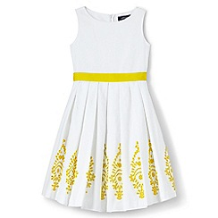 Lands' End - Girls' white broderie anglaise dress