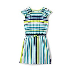 Lands' End - Girls' multicoloured flutter sleeve dress